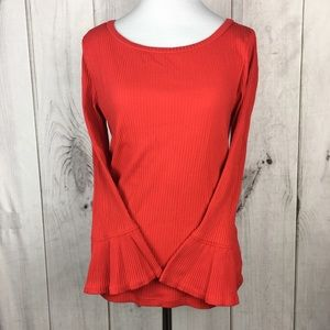 J. Crew Lightly Lined Ruffle Cuff Sweater